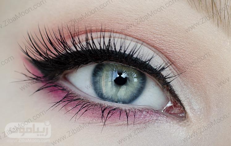 آرایش چشم شیک با سایه رنگی