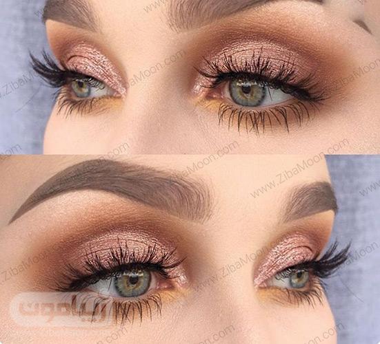 مدل آرایش چشم با سایه قهوه ای اسموکی