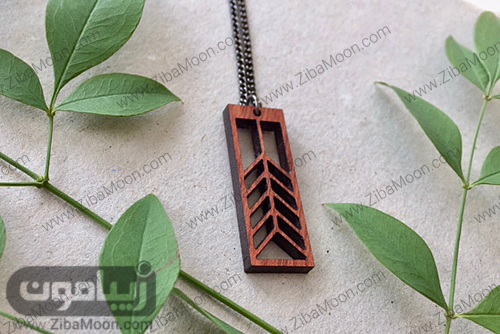 گردنبند چوبی شیک و خاص