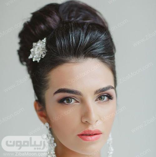 شینیون مو عروس ساده و مرتب