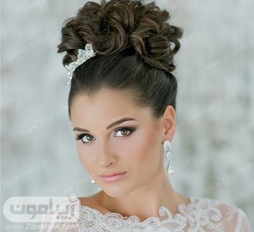 شینیون مو عروس در بالای سر