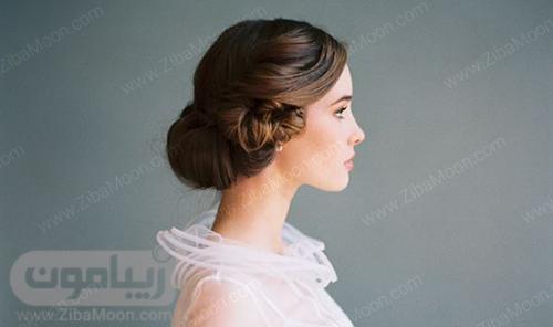 مدل شینیون عروس ساده