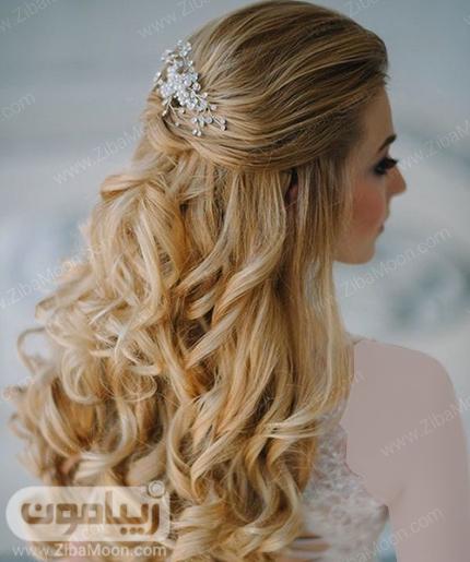 مدل مو باز و موج دار برای عروس