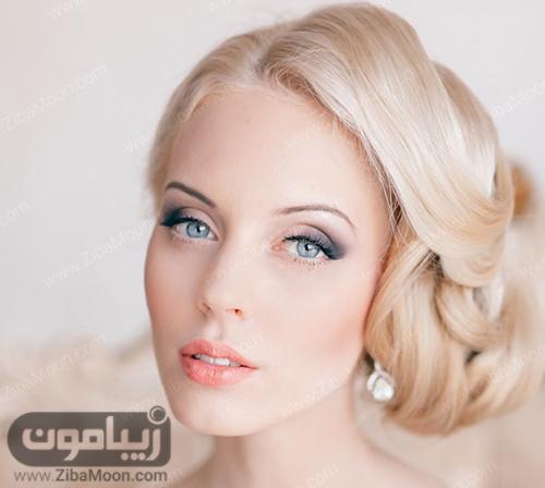 مدل مو عروس با رنگ مو روشن