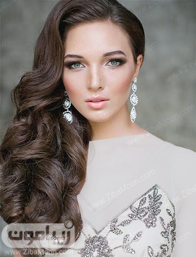 مدل مو خاص و یکطرفه برای عروس