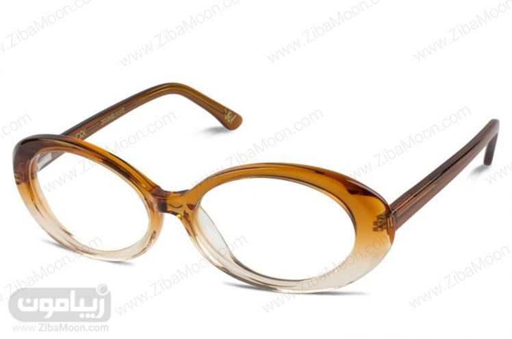 عینک طبی زنانه با رنگ کهربایی