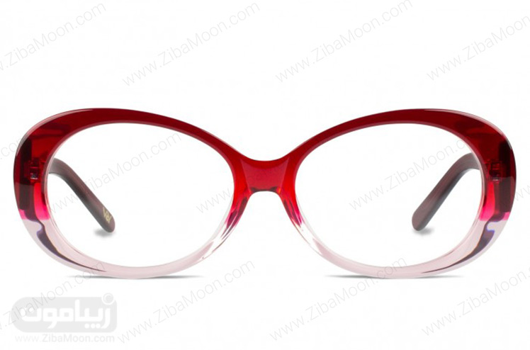 عینک طبی با فریم دورنگ