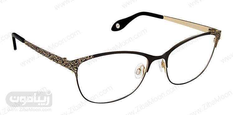 عینک طبی با فریم کار شده