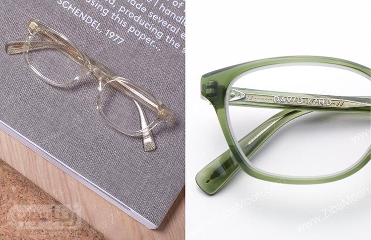 عینک طبی رنگی و شیشه ای