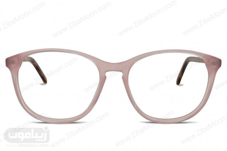 مدل عینک طبی با فریم صورتی مات