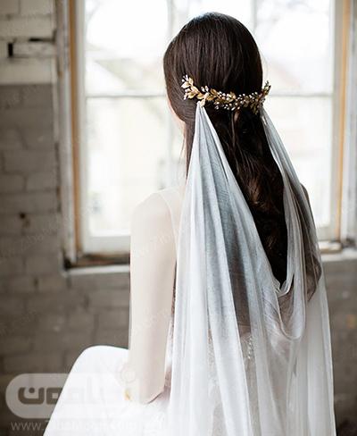 تور عروس با اکسسوری زیبا