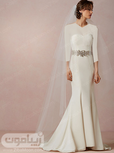 تور عروس بلند و دنباله دار