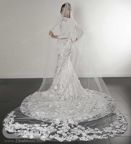 تور عروس بلند و شکوفه دار