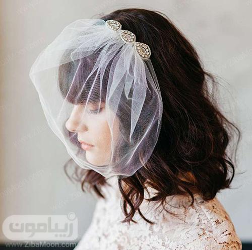 تور عروس کوتاه روی صورت