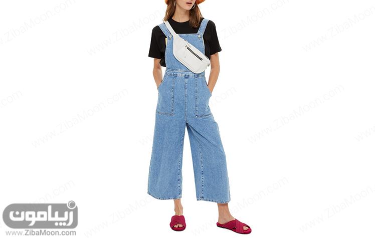 شلوار جین پیش بندی زنانه