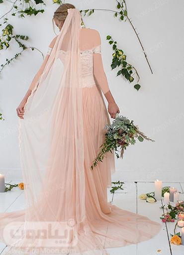 لباس و تور عروس صورتی