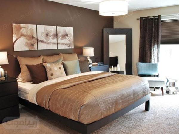 اتاق خواب شکلاتی