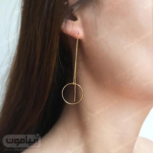 مدل گوشواره آویز حلقه ای
