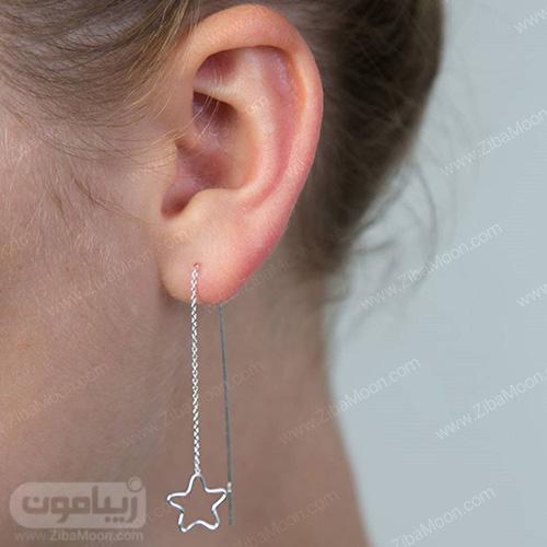 مدل گوشواره طرح ستاره