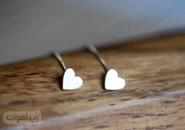 گوشواره آویز مدل قلب
