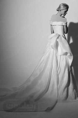 لباس عروس با دامن پف