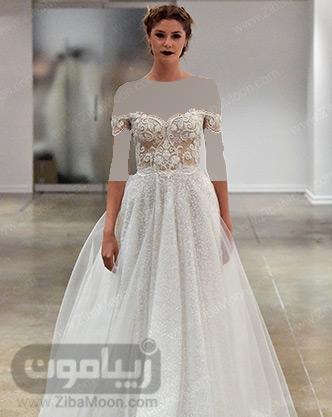 لباس عروس توری لمه ای