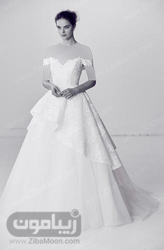 لباس عروس دامن تور