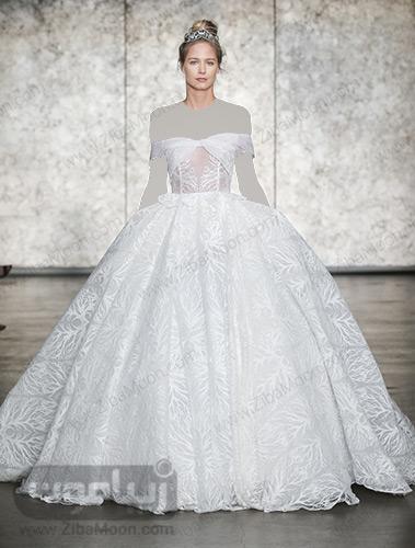 لباس عروس دامن پرنسسی