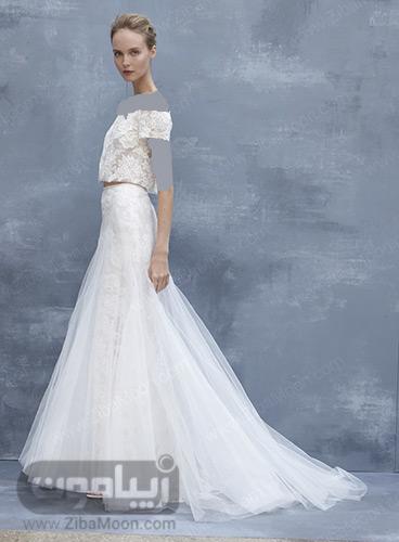 لباس عروس دو تکه