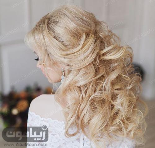 مدل مو باز و موج دار عروس