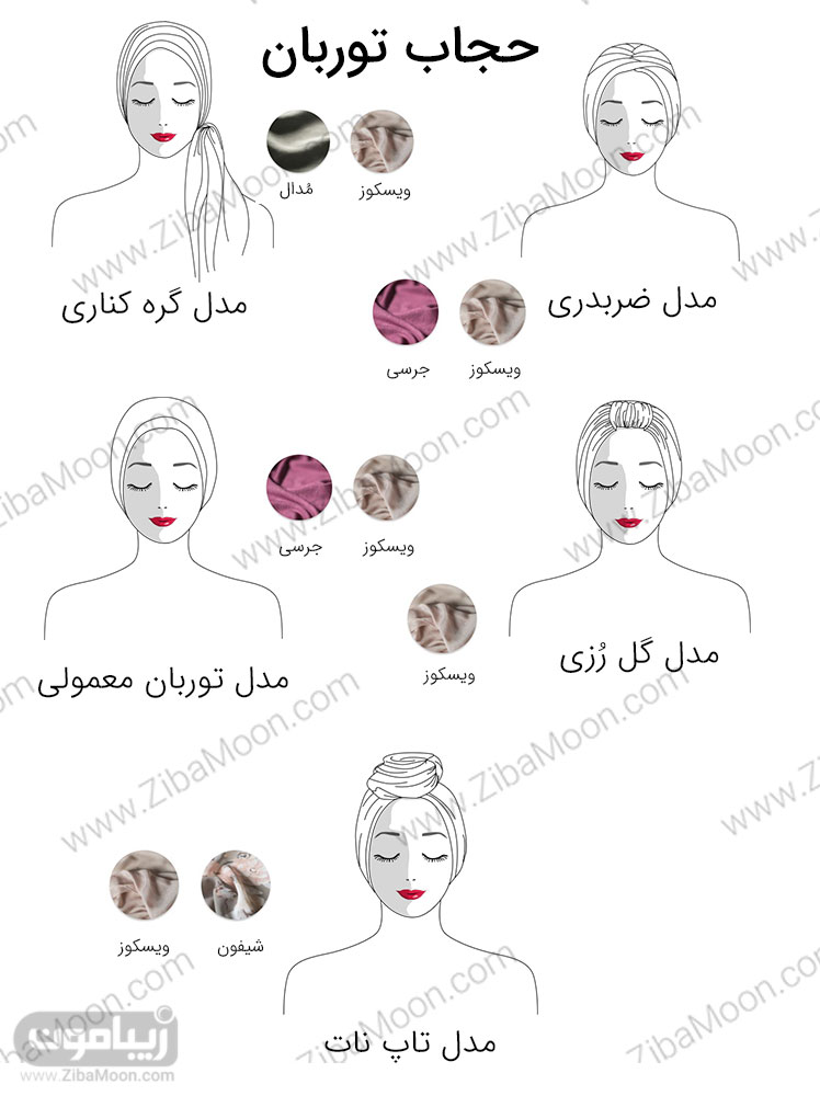 مدل حجاب توربان