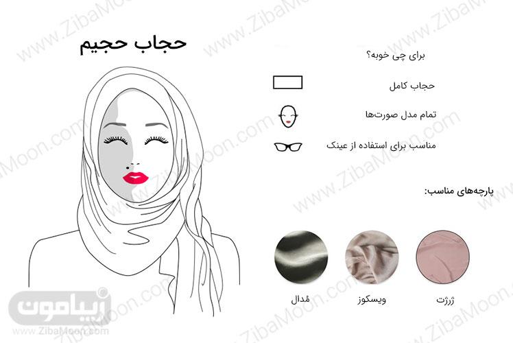 مدل حجاب حجیم یک طرفه