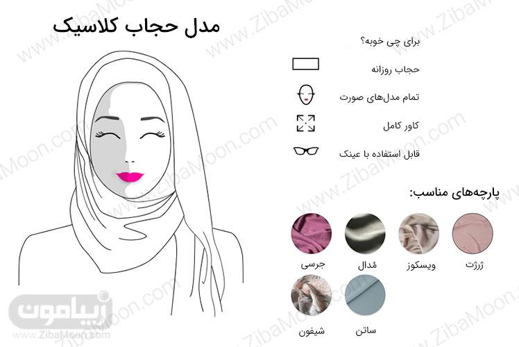 مدل حجاب کلاسیک روزانه