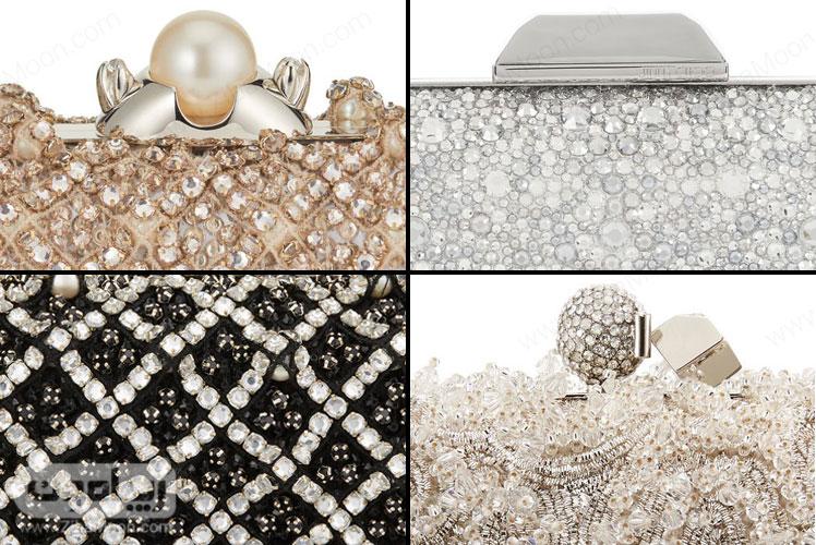 جزئیات کیف دستی های زنانه کار شده جیمی چو از کلکسیون سیندرلا