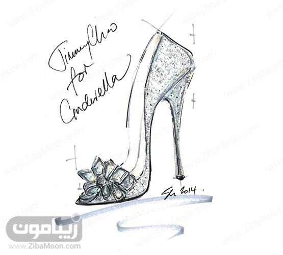 طراحی اولیه از کفش سیندرلا