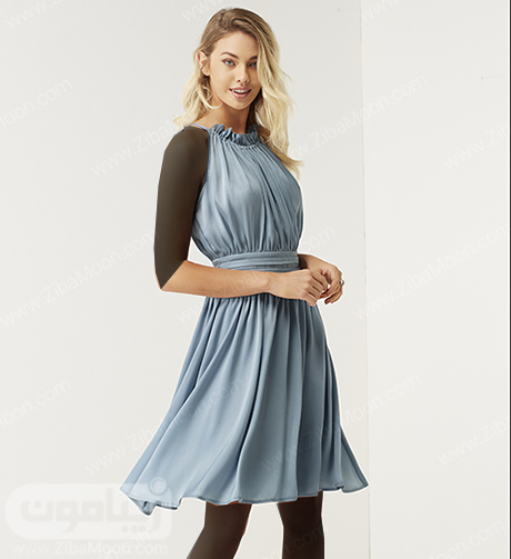 لباس مجلسی کوتاه آبی