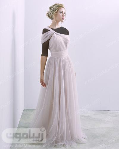 لباس ساقدوش عروس حریری و شیک
