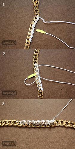 مراحل ساخت دستبند زنجیری