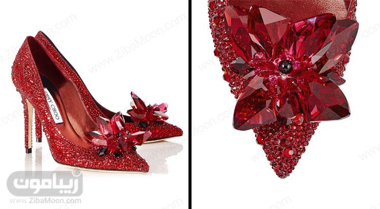 کفش کریستالی قرمز سیندرلا از جیمی چو