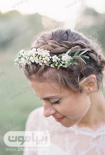 بافت مو و گل های طبیعی