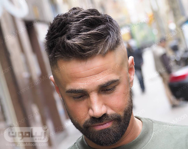 مدل موی مردانه با موهای کوتاه و کم پشت