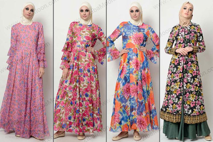 ست لباس های بلند گلدار