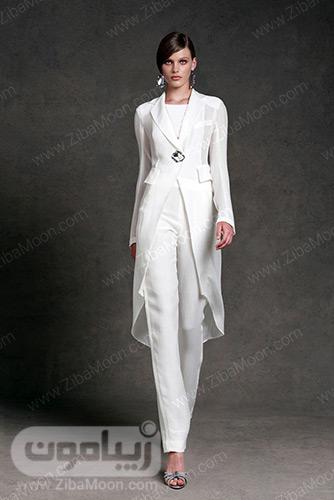 کت و شلوار سفید بسیار شیک