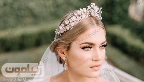 تاج عروس شیک و خاص با کریستال های درخشان