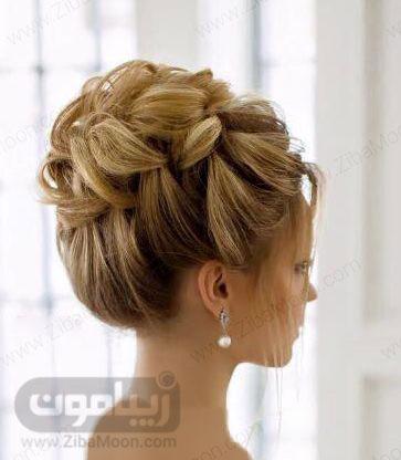 شینیون آپدو با بافت موی فرانسوی شل 17
