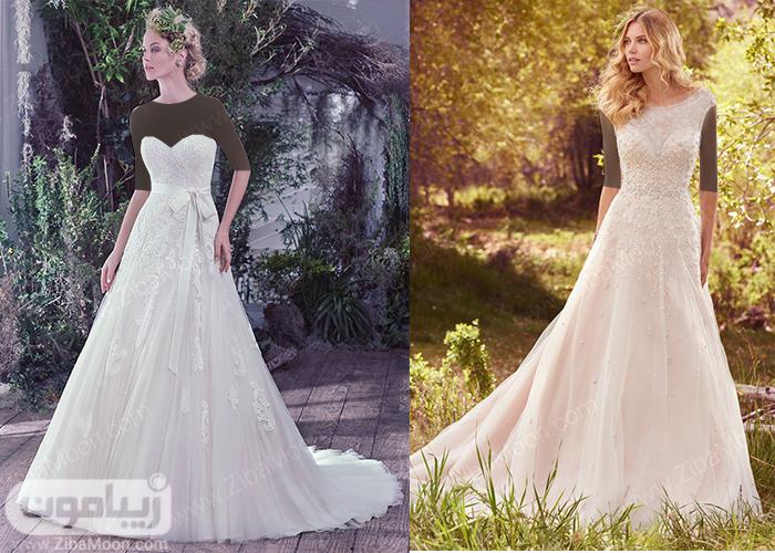 لباس عروس پف دار از بالای کمر