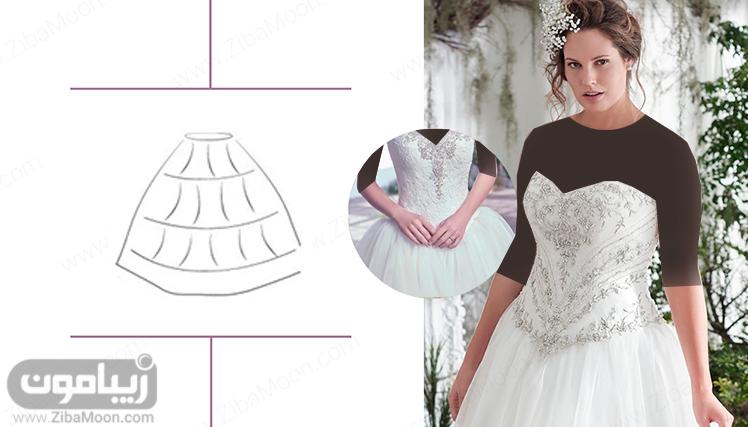 ژپون مناسب برای لباس عروس اسکارلت
