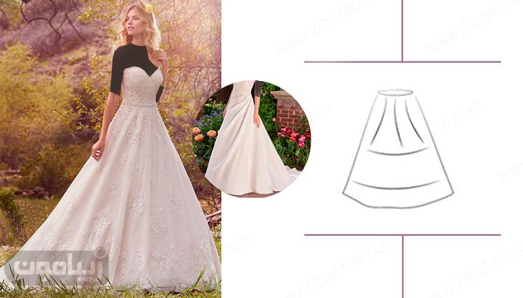 زپون مناسب برای لباس عروس پف دار شده از بالای کمر