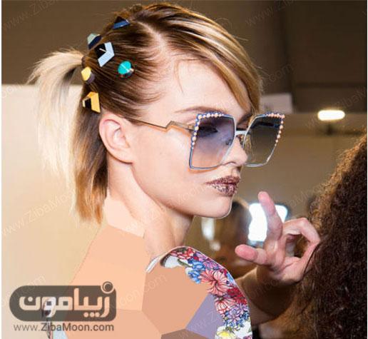 مدل گیره مو با طرح های هندسی و رنگی
