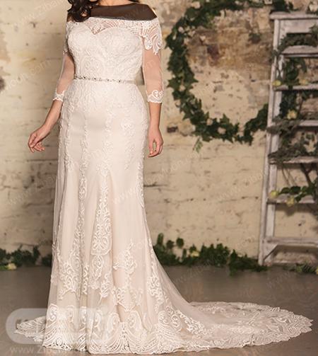 لباس عروس دنباله دار سایز بزرگ